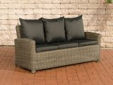3er Sofa Cp042 3 Sitzer Poly Rattan Kissen Anthrazit Natur pertaining to measurements 1208 X 800