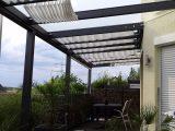 Alu Terrassendach Der Marke Rexopremium 10m X 4m In Anthrazit Mit within measurements 3264 X 1836