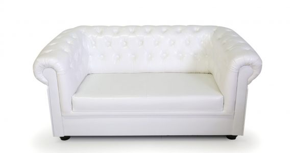 Chesterfield 2 Sitzer Sofa Kunstleder Wei with size 1200 X 900